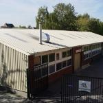 Dakplaten, toegepast in een school